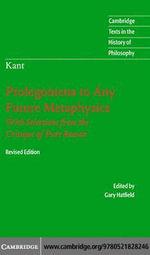 Kant : Prolegomena Fut Metaphys 2ed - Immanuel Kant