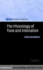 Phonology of Tone and Intonation - Carlos Gussenhoven