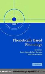 Phonetically Based Phonology