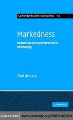 Markedness - Paul de Lacy