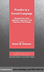 Practice in a Second Language - Robert DeKeyser