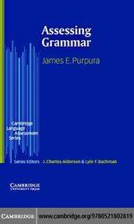 Assessing Grammar - James E. Purpura