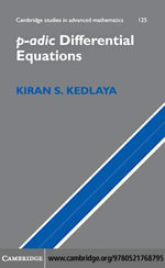 p-adic Differential Equations - Kiran S. Kedlaya