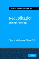 Reduplication - Sharon Inkelas