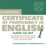 Cambridge Certificate of Proficiency in English 1 Audio CD Set (2 CDs) : Examination Papers from the University of Cambridge Local Examinations Syndicate - University of Cambridge Local Examinations Syndicate
