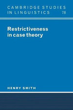 Restrictiveness in Case Theory - Henry Lee Smith