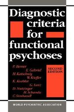 Diagnostic Criteria for Functional Psychoses - P. Berner