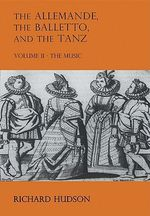 The Allemande and the Tanz : Bk. 2 - Richard Hudson