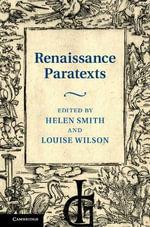 Renaissance Paratexts