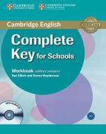 Complete Key for Schools Workbook without Answers with Audio CD : Complete - Sue Elliott