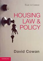 Housing Law and Policy : Law in Context - David Cowan
