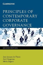 Principles of Contemporary Corporate Governance - Jean du Plessis