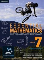 Cambridge First Essential Mathematics for the Australian Curriculum Year 7 - David Greenwood