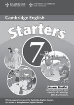 Cambridge Young Learners English Tests 7 Starters Answer Booklet : Examination Papers from University of Cambridge ESOL Examinations - Cambridge ESOL