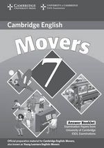 Cambridge Young Learners English Tests 7 Movers Answer Booklet : Examination Papers from University of Cambridge ESOL Examinations - Cambridge ESOL