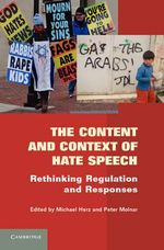 The Content and Context of Hate Speech : Rethinking Regulation and Responses
