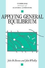 Applying General Equilibrium - John B. Shoven