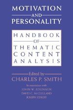 Motivation and Personality : Handbook of Thematic Content Analysis