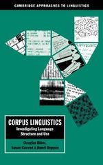 Corpus Linguistics : Investigating Language Structure and Use - Douglas Biber
