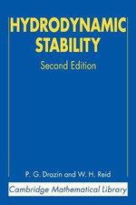 Hydrodynamic Stability - P. G. Drazin