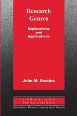 Research Genres : Explorations and Applications - John M. Swales