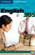 English365 3 Personal Study Book with Audio CD :  For Work and Life [With CDROM] - Steve Flinders