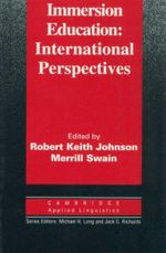 Immersion Education : International Perspectives : Cambridge Applied Linguistics