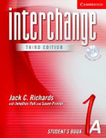 Interchange Student's Book 1A with Audio CD : Student's book 1A - Jack C. Richards