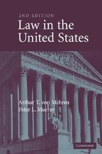 Law in the United States - Arthur T. von Mehren