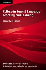 Culture in Second Language Teaching and Learning : Cambridge Applied Linguistics