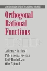 Orthogonal Rational Functions - A. Bultheel