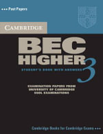 Cambridge BEC Higher 3 Self Study Pack : Examination Papers from University of Cambridge ESOL Examinations: English for Speakers of Other Languages [With CD] - Cambridge ESOL