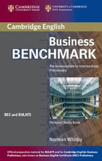 Business Benchmark Pre-Intermediate to Intermediate Personal Study Book BEC and BULATS Edition :  Pre-Intermediate to Intermediate Preliminary - Norman Whitby
