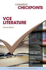Cambridge Checkpoints VCE Literature 2006-2010 - Suzanne Patman