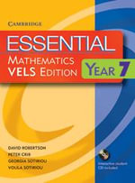 Essential Mathematics VELS Edition Year 7 Pack With Student Book, Student CD and Homework Book : for VELS Level 7 - David Robertson