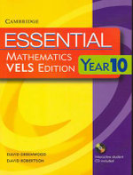 Essential Mathematics VELS Edition Year 10 Pack With Student Book, Student CD and Homework Book - David Greenwood