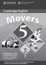 Cambridge Young Learners English Tests Movers 5 Answer Booklet: No. 5 : Examination Papers from the University of Cambridge ESOL Examinations - Cambridge ESOL