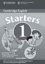Cambridge Young Learners English Tests Starters 1 Answer Booklet : Examination Papers from the University of Cambridge ESOL Examinations - Cambridge ESOL