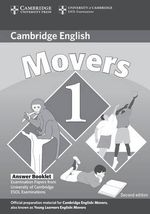 Cambridge Young Learners English Tests Movers 1 Answer Booklet: Level 1 : Examination Papers from the University of Cambridge ESOL Examinations - Cambridge ESOL