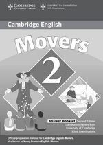 Cambridge Young Learners English Tests Movers 2 Answer Booklet: Level 2 : Examination Papers from the University of Cambridge ESOL Examinations - Cambridge ESOL