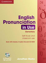 English Pronunciation in Use Elementary Book with Answers, 5 Audio CDs and CD-ROM : Elementary - Sylvie Donna