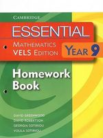Essential Mathematics VELS Edition Year 9 Homework Book : VELS Edition - David Greenwood