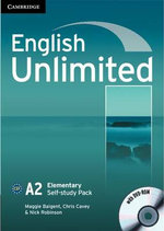 English Unlimited Elementary Self-study Pack (Workbook with DVD-ROM) - Maggie Baigent
