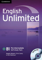 English Unlimited Pre-intermediate Self-study Pack (Workbook with DVD-ROM) : B1 Pre-Intermediate Self-Study Pack - Maggie Baigent