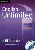 English Unlimited Pre-intermediate Self-study Pack (Workbook with DVD-ROM) : B1 Pre-Intermediate Self-Study Pack - Maggie Baigent