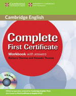 Complete First Certificate Workbook with Answers and Audio CD : Complete - Amanda Thomas