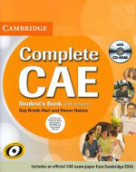 Complete CAE Student's Book Pack (Student's Book with Answers with CD-ROM and Class Audio CDs (3)) : Complete - Guy Brook-Hart