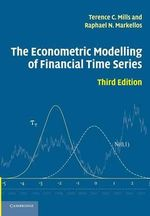 The Econometric Modelling of Financial Time Series - Terence C. Mills