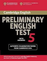 Cambridge Preliminary English Test : With Answers Paper 5 - Cambridge ESOL