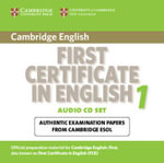 Cambridge First Certificate in English 1 for Updated Exam Audio CDs (2): Level 1 : Official Examination Papers from University of Cambridge ESOL Examinations - Cambridge ESOL